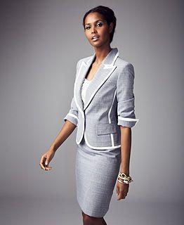 Light Blue Skirt Suit For Business Business Clothes Pinterest
