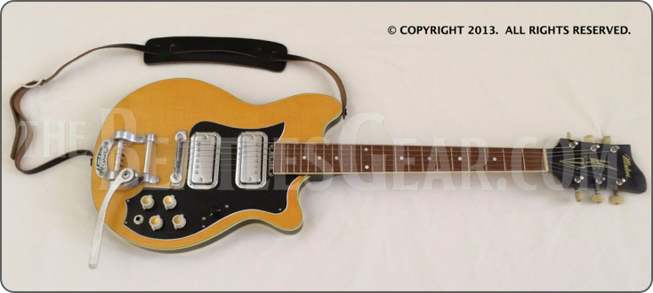 Georgeharrison Played A 1958 Maton Ms500 Mastersound This Is Our 1958 Gh Replica Thebeatles Beatlesgear Beatlemani Electric Guitar Guitar The Beatles