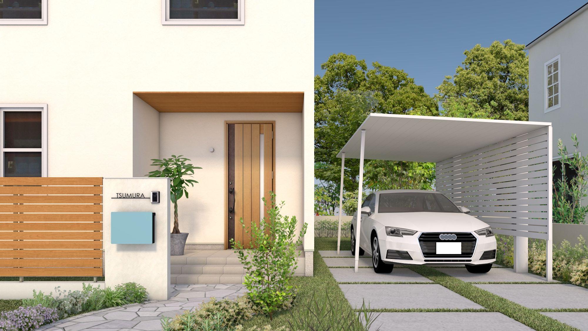 北欧テイストの住宅を引き立てる ひとつ上の心地よさを 現代建築の住宅 マイホーム 外観 住宅