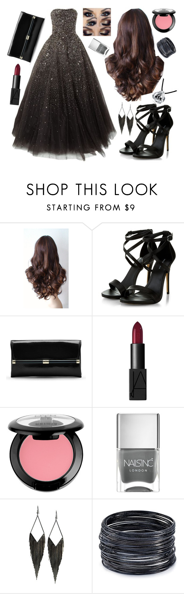 """""""Untitled #87"""" by stilinskiismybatman ❤ liked on Polyvore featuring CO, Diane Von Furstenberg, NARS Cosmetics, NYX, Nails Inc., GUESS, ABS by Allen Schwartz and Bling Jewelry"""