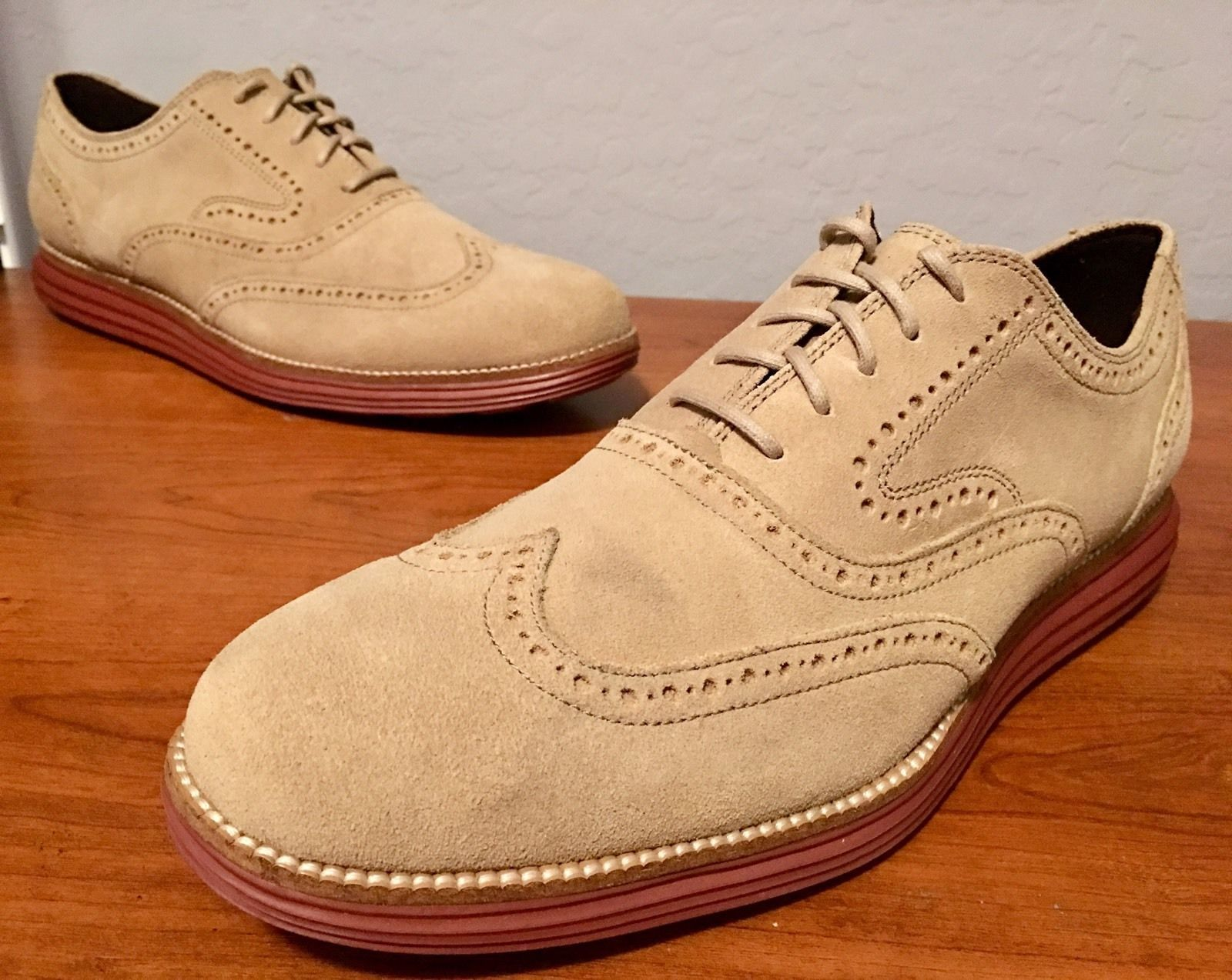 Cole Haan Grand OS Original Wingtip Milkshake Tan C21132 Men's Size 11.5
