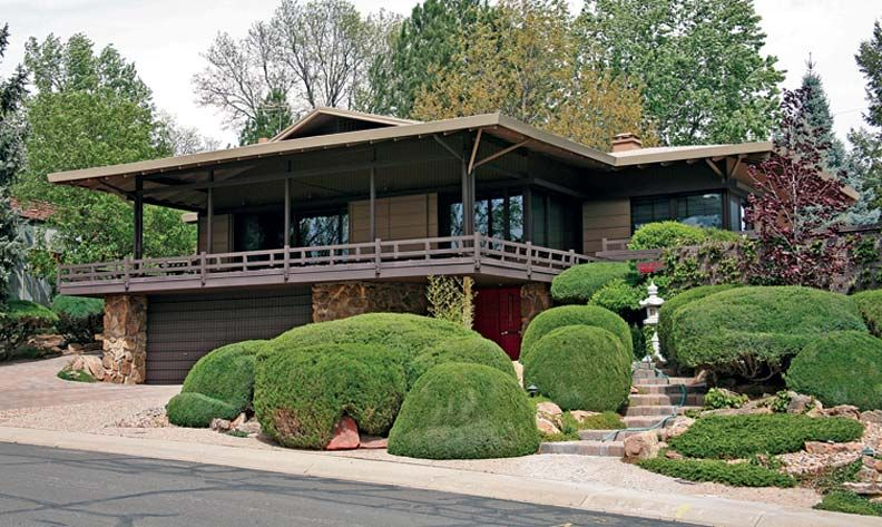 Mid century modern at arapahoe acres in englewood for Classic japanese house