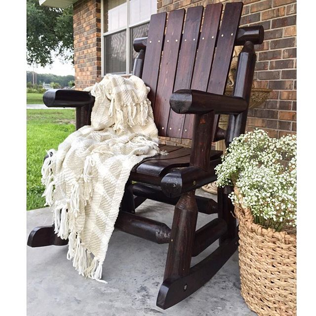 Favorite Rocking Chair To Sit And Drink Coffee On The Front Porch In The Mornings