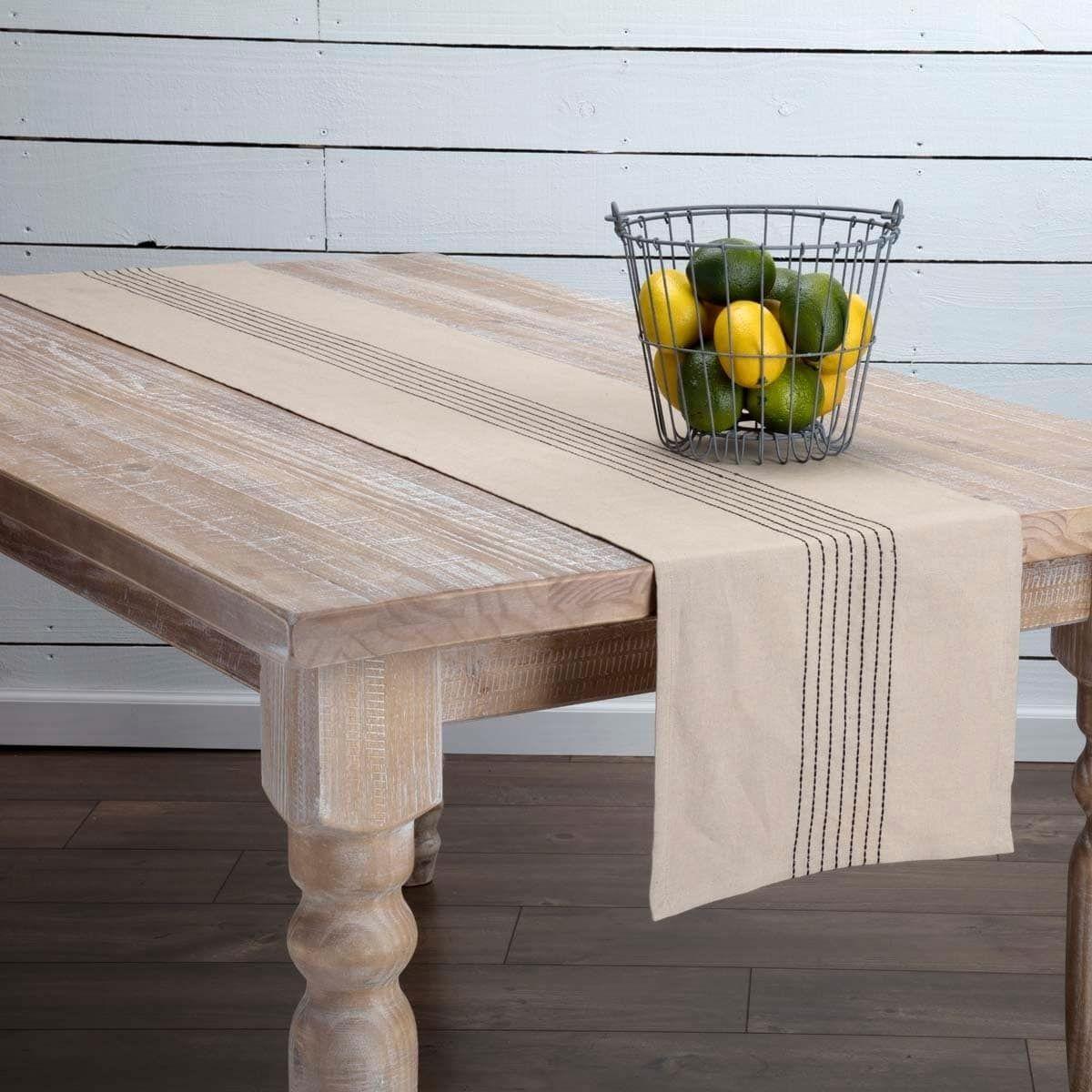 Farmhouse Tabletop Kitchen VHC Naomi Runner Cotton Linen