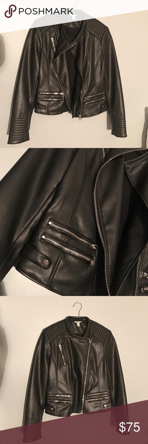 Leather jacket Brand new leather jacket! Silver hardware! Fits like a m/l Zara Jackets & Coats