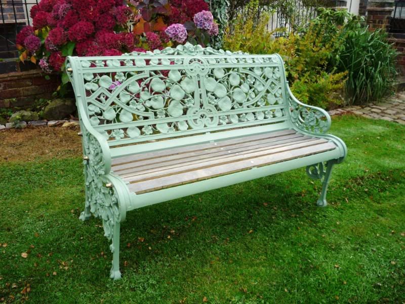 Coalbrookdale Nasturtium Antique Victorian Garden Bench Messel Green