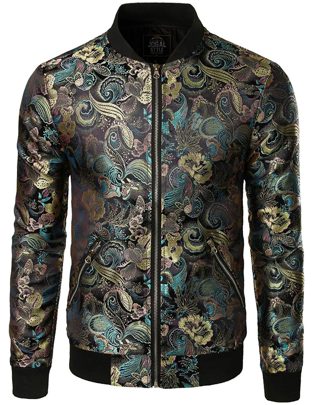 Jogal Men S Luxury Paisley Embroidered Satin Bomber Jacket Coat At Amazon Men S Clothing Store Satin Bomber Jacket Men S Coats And Jackets Mens Luxury [ 1300 x 1000 Pixel ]