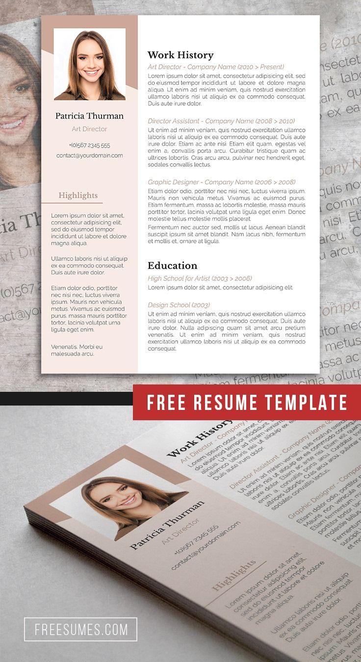 Free rose white resume template resume template free