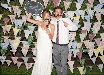 Fabric wedding flags.  Enamor Events: Fabulous Friday: Frame-worthy Backdrops