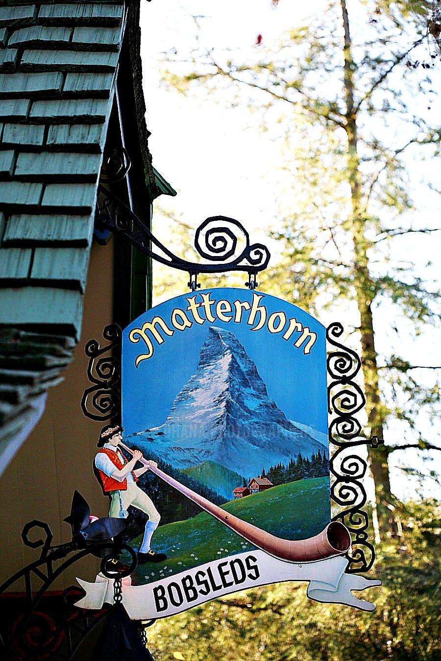 Disneyland Matterhorn Bobsleds Fantasyland O Disney