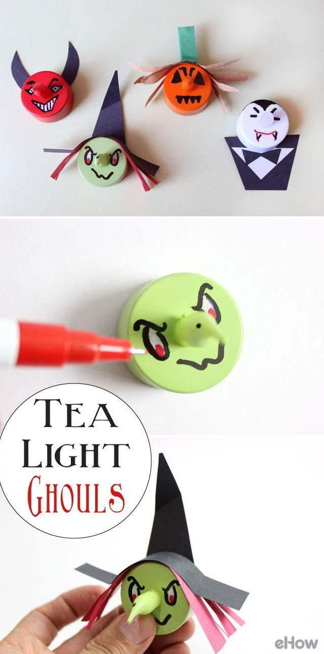 BatteryOperated Tea Light Ghouls Tutorial Battery Operated - 22 insanely useful things can duct tape