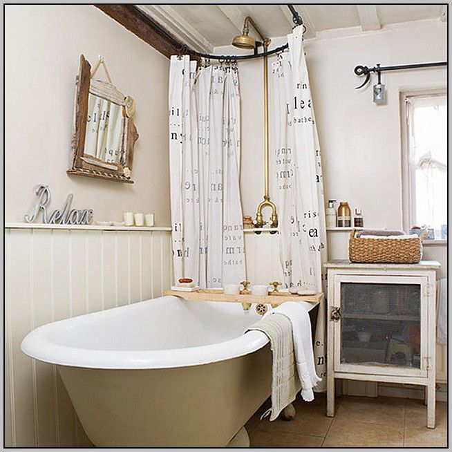 Clawfoot Tub Shower Curtain Ring Cottage Bathroom Cottage Bathroom Design Ideas Rustic Cottage Bathroom