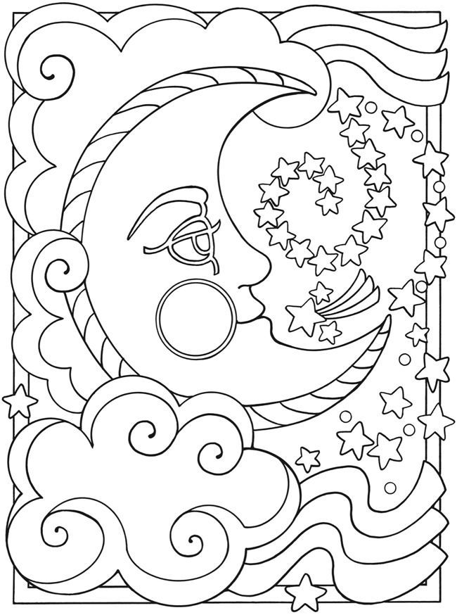 Our Moon Is A Fascinating Subject Through All Its Phases And Shapes Humans Have Pondered The Ce Moon Coloring Pages Star Coloring Pages Mandala Coloring Pages