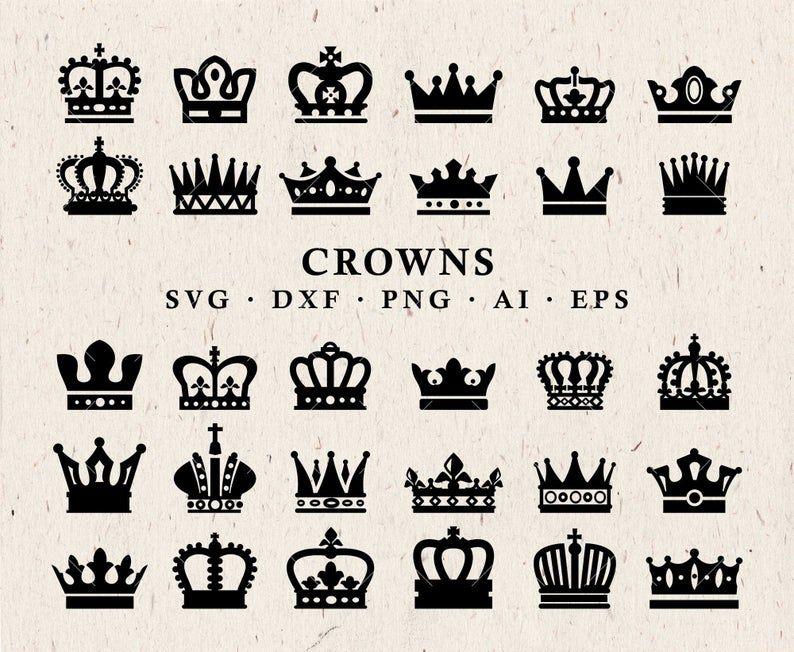 Crown Svg Crown Clipart Queen Crown King Crown Princess Etsy Clip Art Crown Clip Art Kings Crown