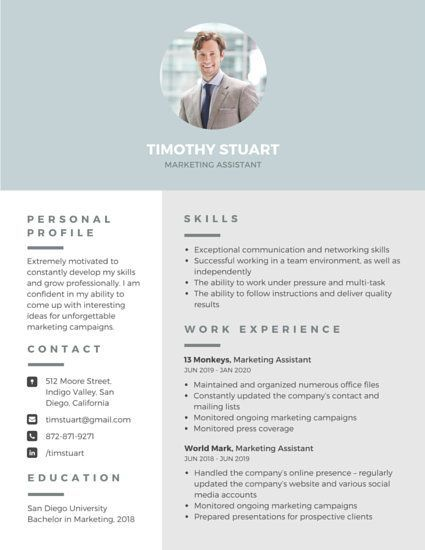 How Lovely Is This Resume Template Make It Yours For Free On Canva Just Click Th Resume Template Professional Modern Resume Template Free Professional Resume