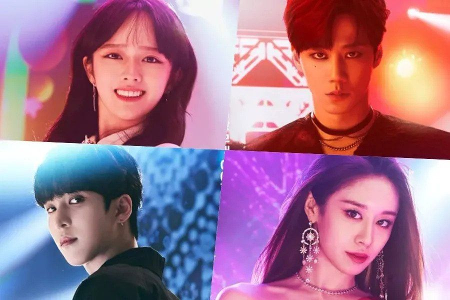 """U-KISS's Lee Jun Young, Jung Ji So, ATEEZ's Yunho, And T-ara's Jiyeon Are Ready For The Spotlight In """"Imitation"""" Poster"""