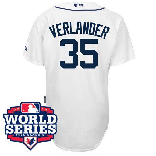 new arrivals d339c c47a3 Detroit Tigers Justin Verlander Home Authentic Jersey w/2012 ...