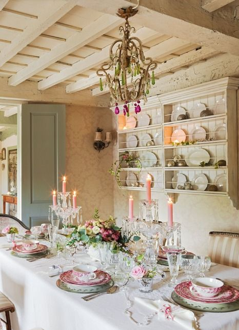 Un Noël Shabby Chic Cottage dining rooms