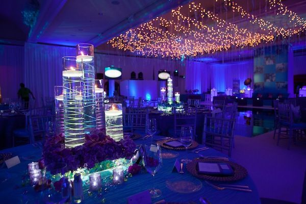 Bat Mitzvah Decor bat mitzvah led centerpieces (the event of a lifetime