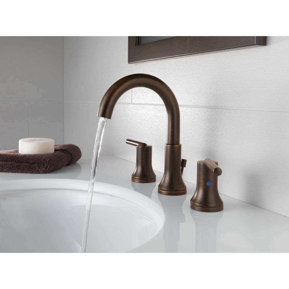 Delta Faucet 3559 Rbmpu Dst Trinsic Venetian Bronze Two Handle Widespread Bathroom Faucets Bathroom Faucets Widespread Bathroom Faucet High Arc Bathroom Faucet