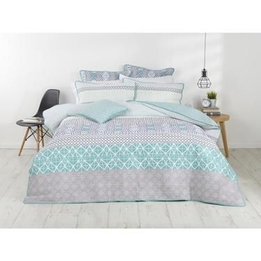 Spotlight Koo Elite Asher Printed Quilt Cover Set Spotlight Australia Modern Quilt Covers Quilt Cover Sets Contemporary Bed Linen