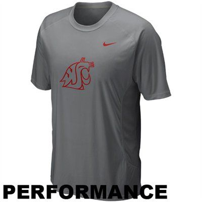 Nike Washington State Cougars Speed Fly Performance T-Shirt - Gray