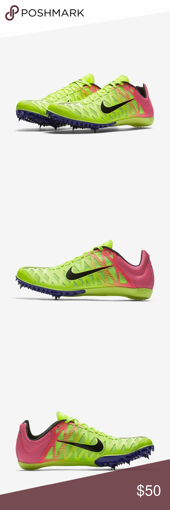 e2d06879dc6e Nike Zoom Maxcat 4 Rio OC Spikes Men s Sz 13 Nike Zoom Maxcat 4 Rio OC  Spikes Men s Size  13 Color  Volt Pink Black Blue Brand New It doesn t come  with the ...