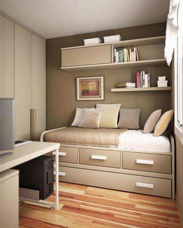 Design Ideas For Small Rooms Part - 21: Small Space Bedroom Interior Design Ideas - Interior Design - Small-spaced  Apartments Often Have Small Rooms. If You Have A Small Bedroom And You  Donu0027t Know ...
