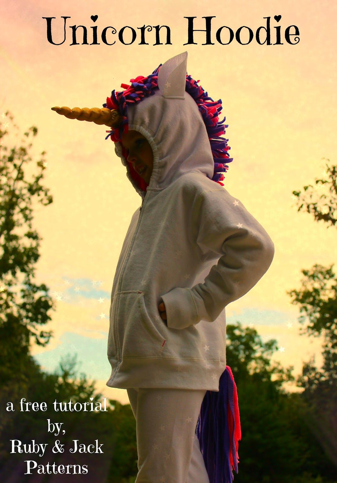 How to Make a Unicorn Horn Hoodie from Ruby & Jack Patterns
