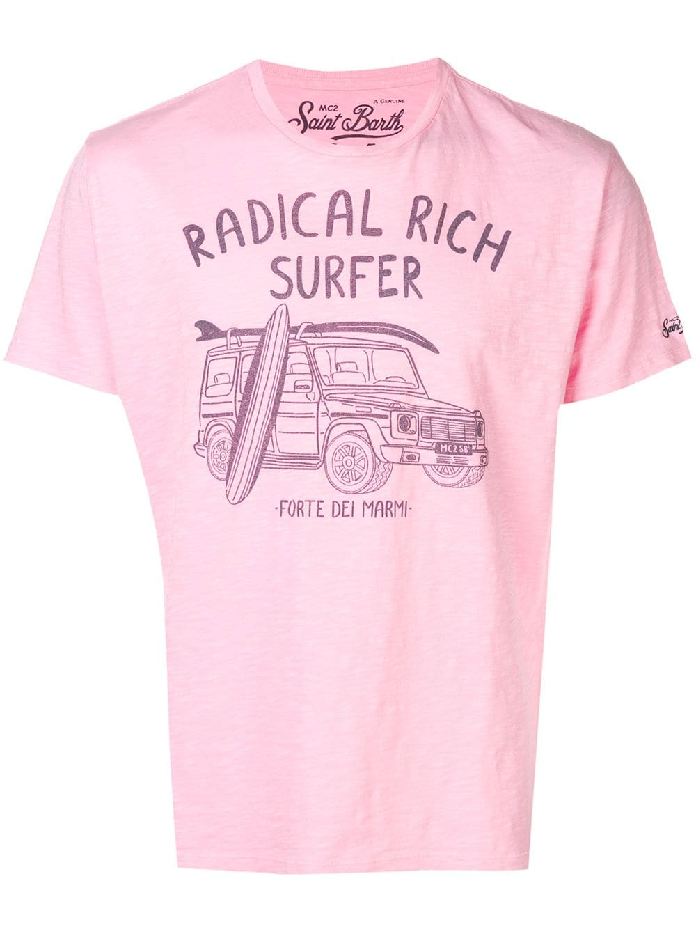 Mc2 Saint Barth Surf print T shirt Pink | Products in 2019