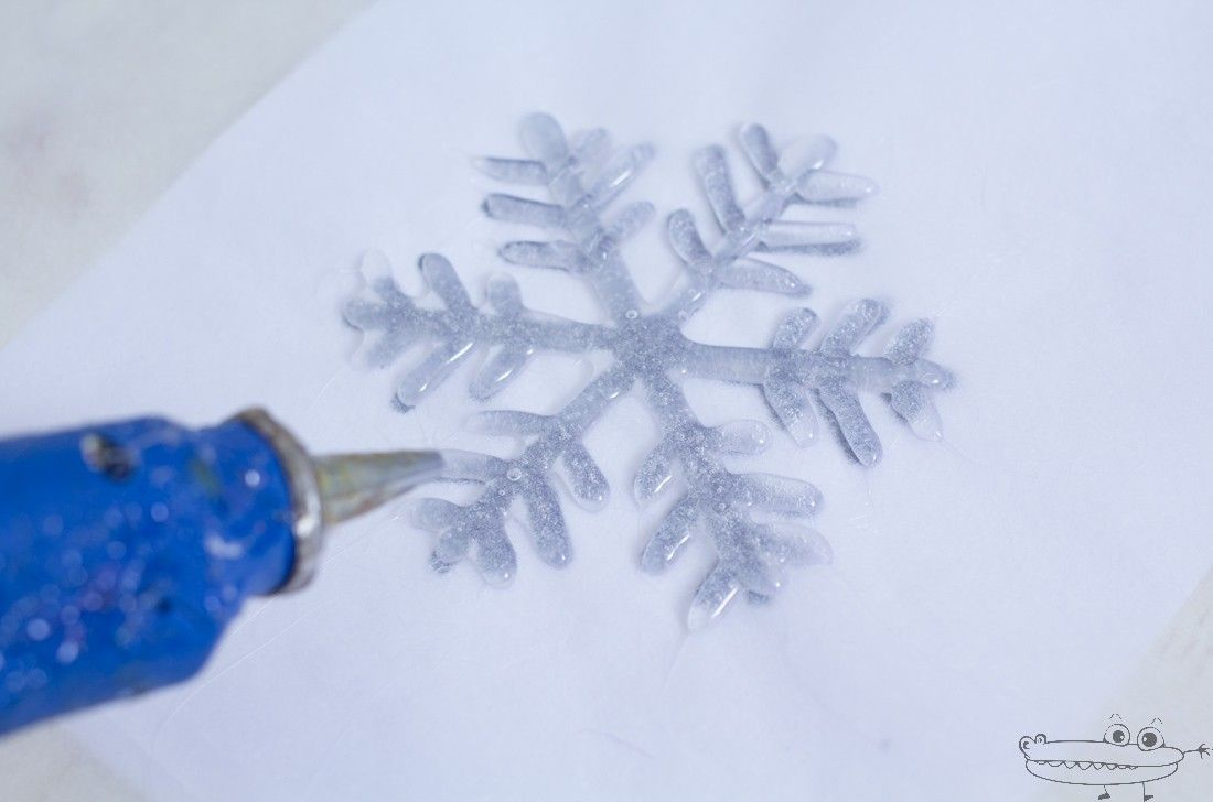copo de nieve silicona