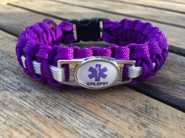 Medical Id Epilepsy Paracord Bracelet