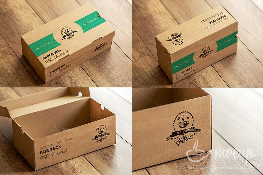 5 PSD Paper Box Mockups | Mockup, Moving announcements and Signage