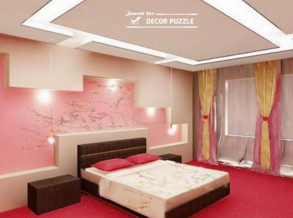 wall ceiling pop designs for bedroom wall design | Wall decorations ...