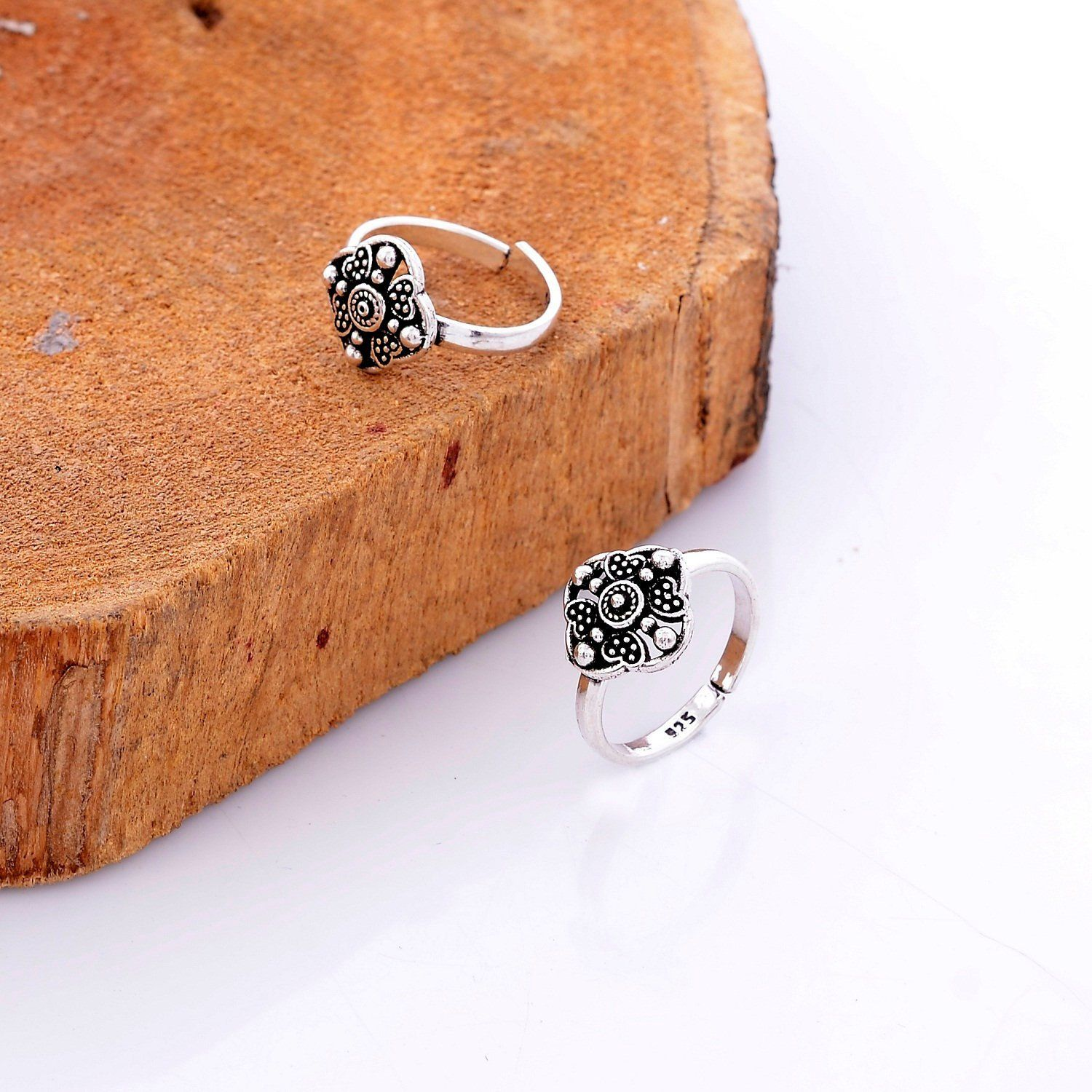 Adjustable Cross Toe Ring Sterling Silver 925 Fashion Beach Jewelry Gift