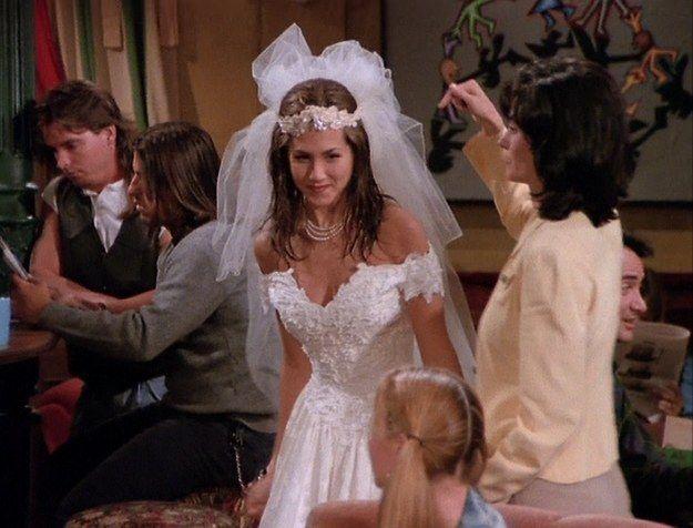 Rachel Green Friends Incredible Costumes Green Wedding Dresses