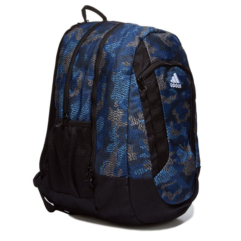 Kids adidas Excel II Laptop Backpack Camo BlueBlackGrey