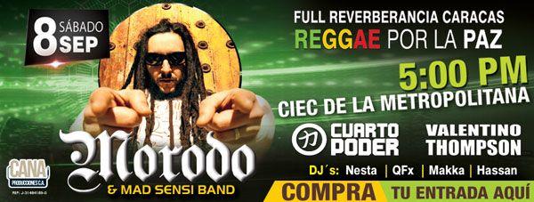 """El festival de reggae más grande de Venezuela, el Full Reverberancia, debuta en Caracas este 8 de septiembre, para presentar a uno de los artistas españoles más destacados de la escena mundial: Morodo. El cantante, que define su propuesta musical como """"un new roots que..."""