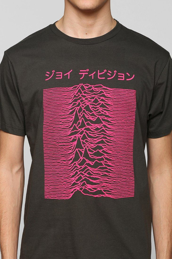 Black t shirt urban outfitters - Joy Division Japanese Tee