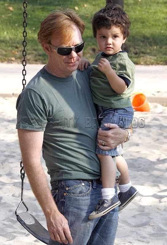 Photo de David Caruso  & son  fils  Marquez Anthony Caruso