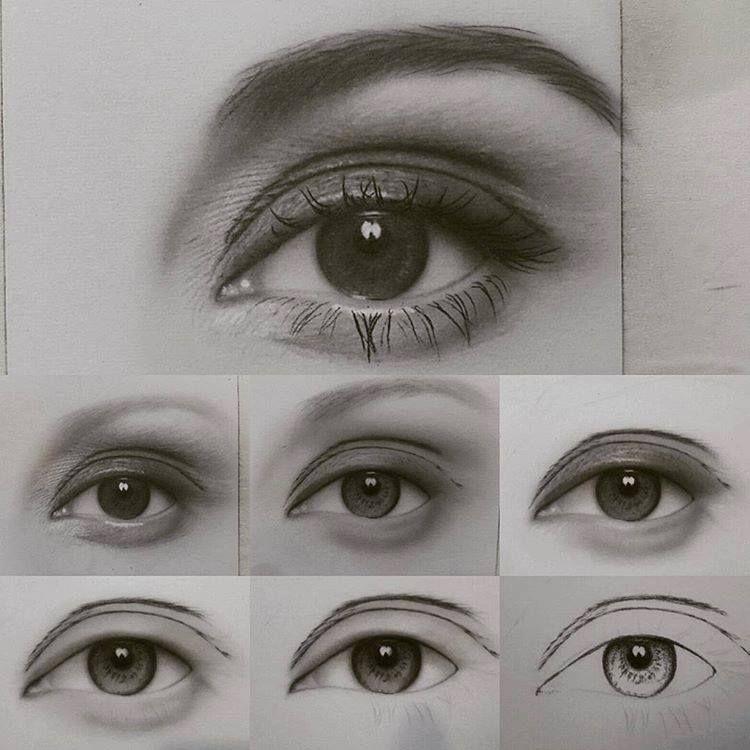 Drawing eye step by step by artist saeiddasdar