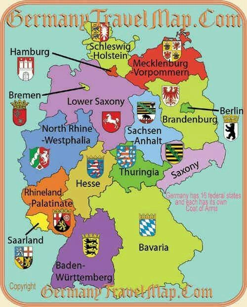 coats of arms from the 16 bundeslnder of germany we are from nord rhine westphalia