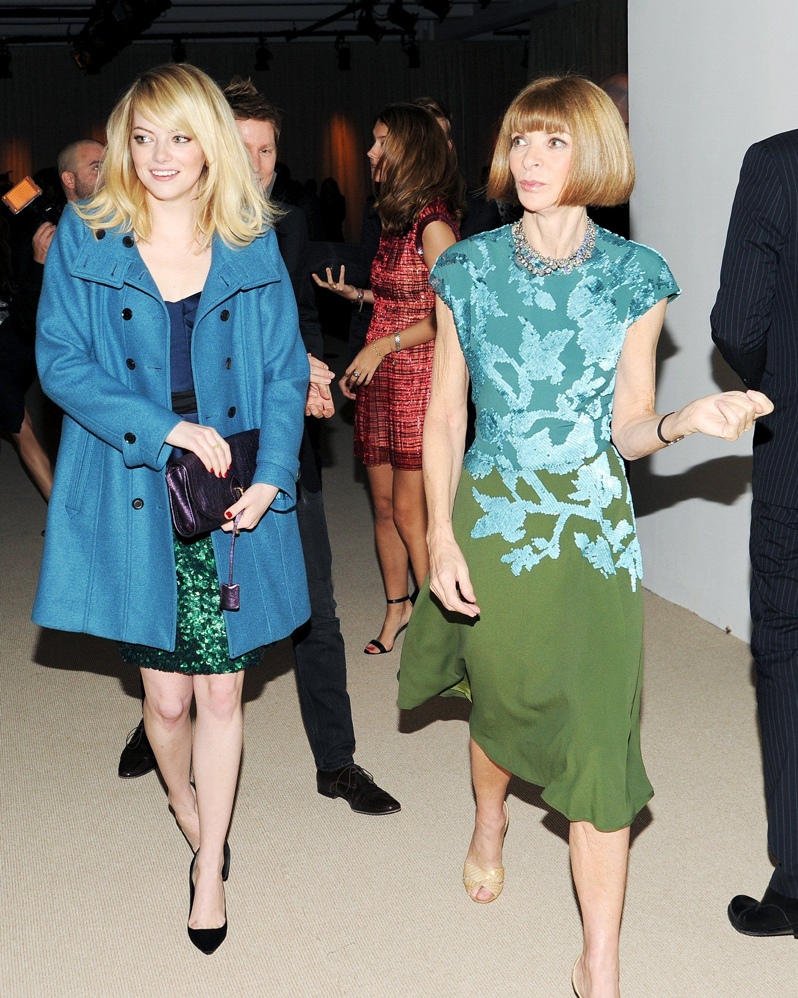 Emma Stone & Vogue Editor-in-Chief Anna Wintour