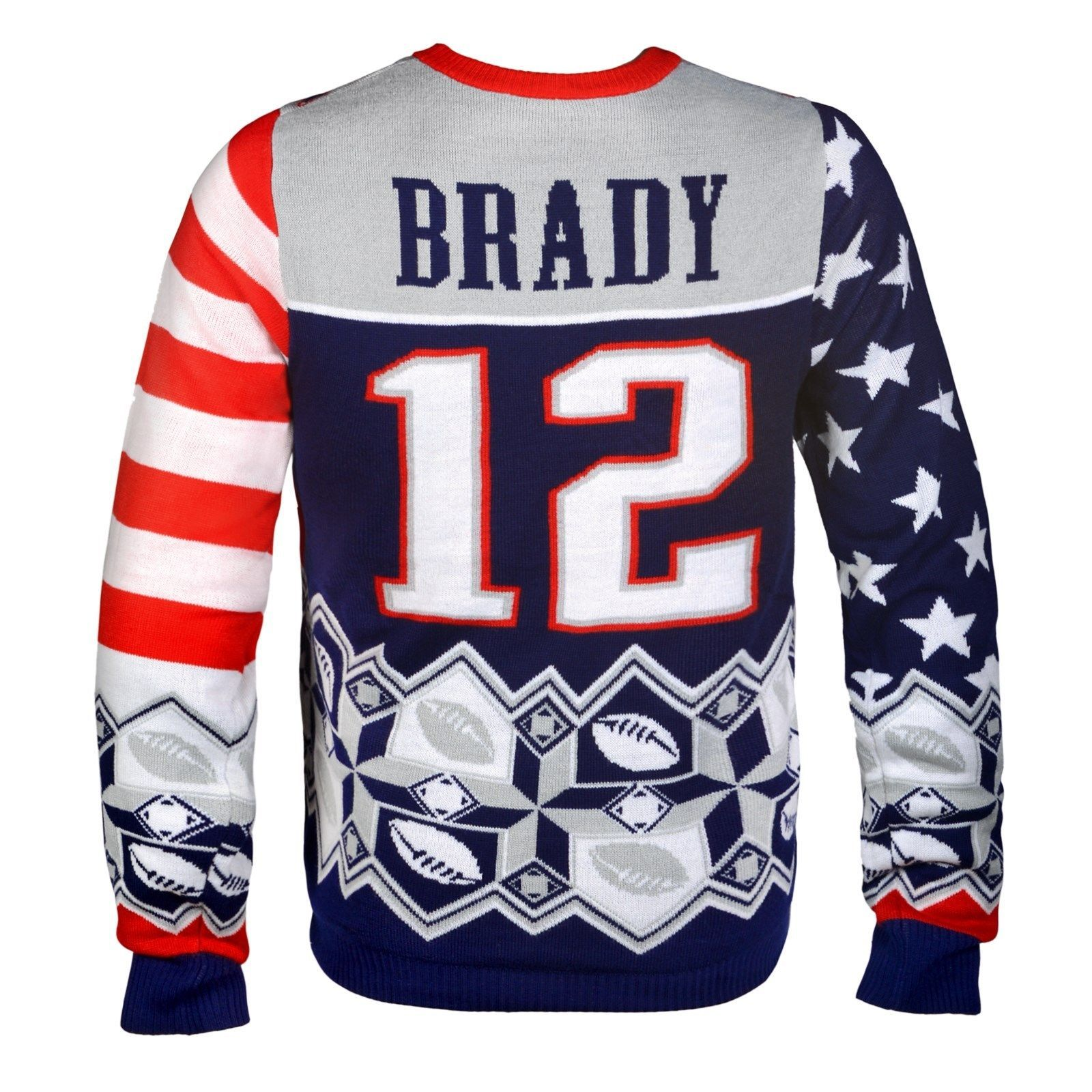 125fbe0848d NFL Football Team Logo PLAYER Ugly Sweater - Pick Your Team Player! Tom  Brady New England Patriots