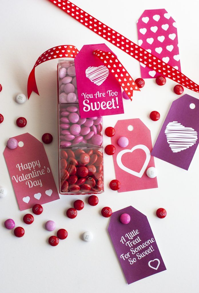 DIY Valentine\'s Day Gift: Mini Candy Boxes & Printable Gift Tags ...
