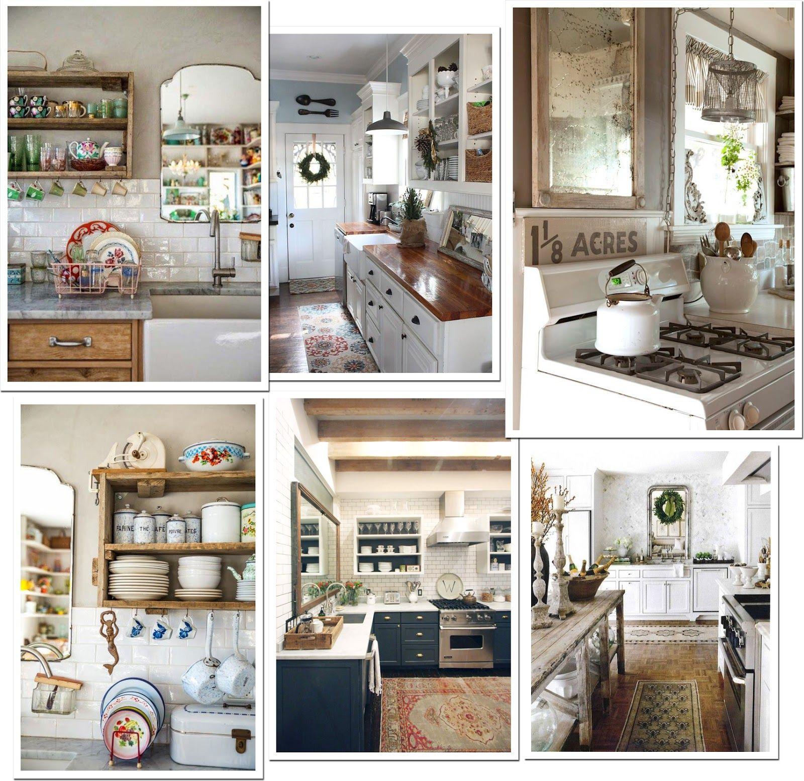 Uno specchio in cucina - Shabby Chic Interiors | cucine ...
