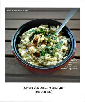 Caviar d 39 aubergine libanais au tahini cuisine - Cuisine libanaise aubergine ...