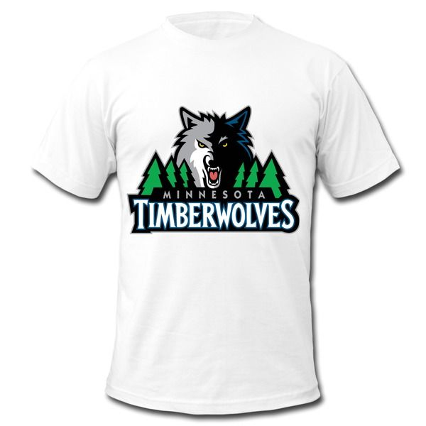 Minnesota Timberwolves Color Logo Short Sleeve T-shirts Basketball T-shirts Custom For Men Size S M L XL XXL 3X On Sale