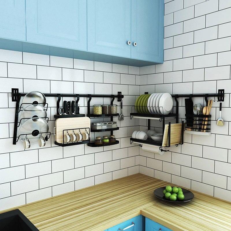 Stainless Steel Kitchen Rack Diy Wall Hanging Kitchen Shelf Nordic Garner Kitchen Rack Stainless Steel Kitchen Shelves Hanging Kitchen Cabinets