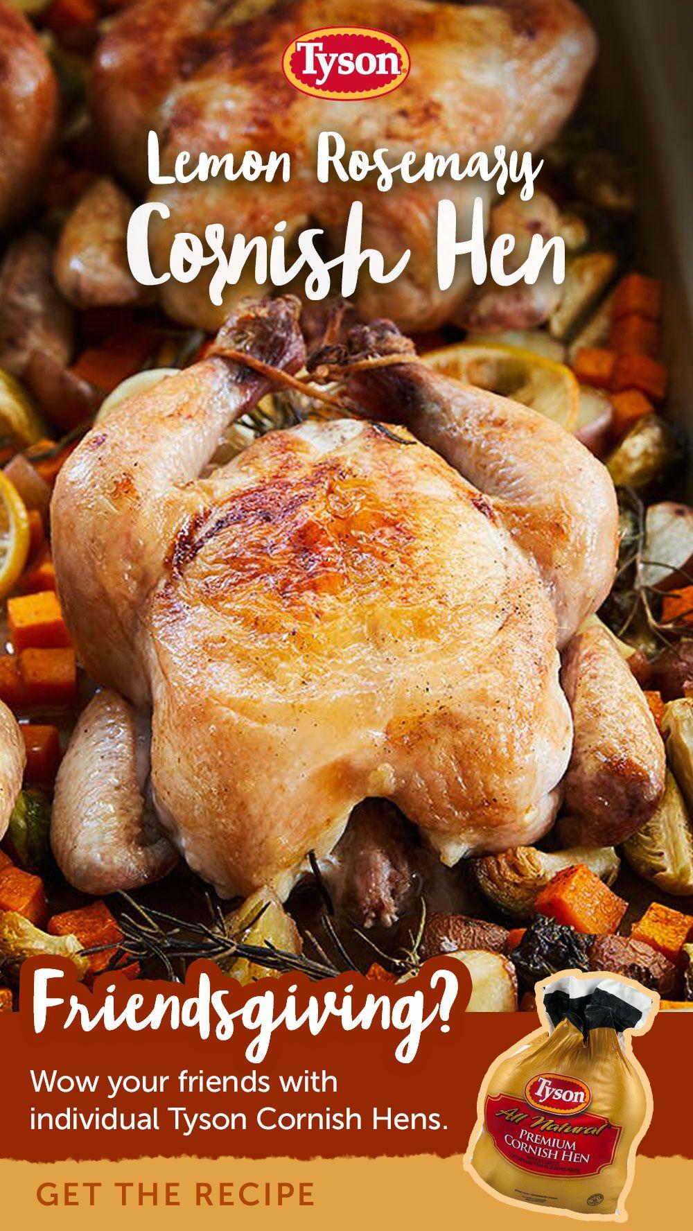 Rosemary-Glazed Cornish Hens